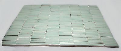 Large Set of Small Mint Green Tiles