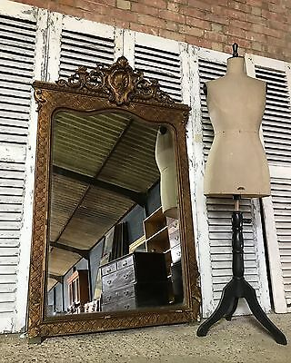 19th Century Large Antique French Ornate Mirror