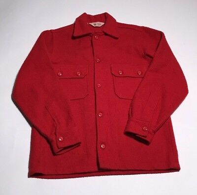 Boy Scouts Official Jacket Men's Made In USA Vintage Red  Size 16-552 Shirt C1-8