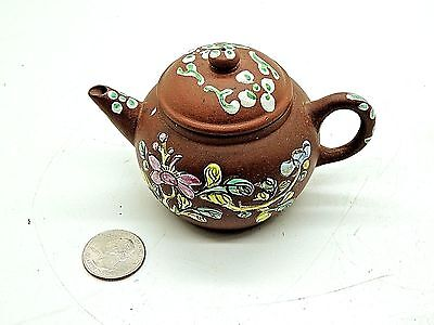 Estate Rare Fine Vintage Chinese Brown Yixing Clay Teapot - Signed