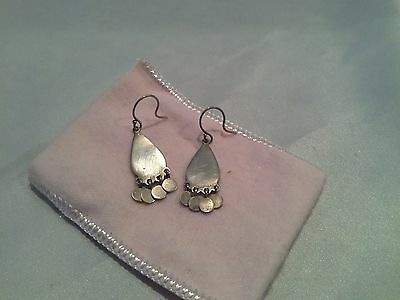 "Me & Ro Earrings small 1"" tear drop shape with dangly elements"