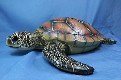 "Sea Turtle Statue Wall Hanging Sculpture X Large 19""  New"