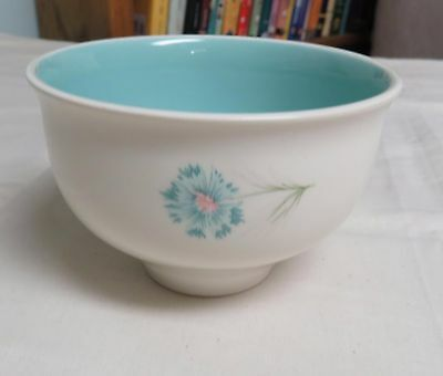 1960s Boutonniere Taylor Smith-Chip Dip Bowl-VHTF Rare- Blue Bachelor Button