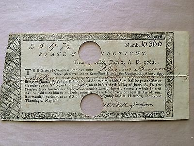 Connecticut Line Treasury Note Issue 6th May, 1790