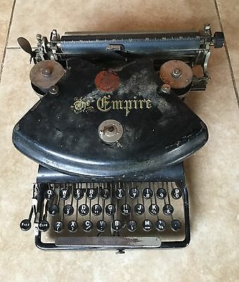 Antique 1890 Empire Typewriter, as found, unusual
