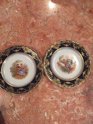 Pair Of Side Dish DRESDEN SMALL MINI PLATES