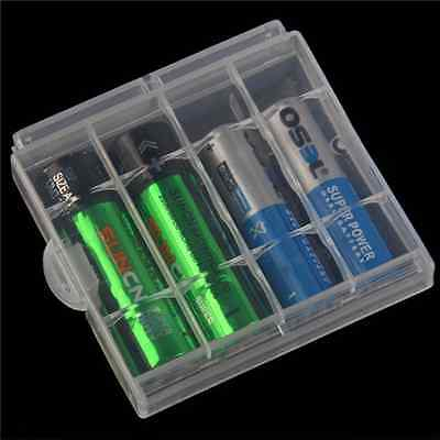 10pcs Hard Plastic Battery Cases Cover Hook Holder 4AA/5 AAA Battery Storage Box