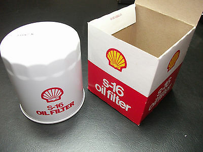 Vintage Shell S-16 Oil Filter w/Box Man Cave Garage Shop Collectible S16