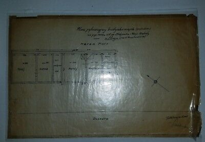 House blueprints from Poland, 1954
