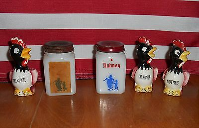 5 Vintage Spice Shakers