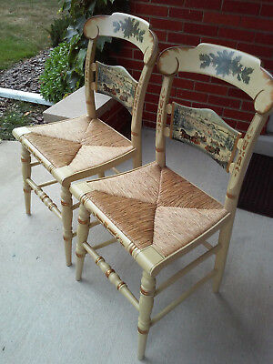 Hitchcock Limited Edition Christmas Accent Chairs 1987 - set of 2!