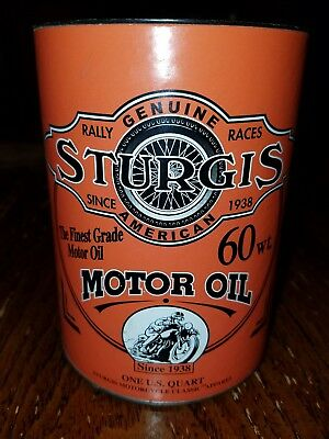 Sturgis Motorcycle Rally Official 1 quart 60wt oil can/bank.