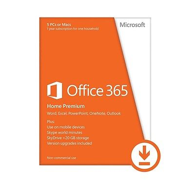 Microsoft Office 365 Home 5 user 1 year (Email license key, no shipping)