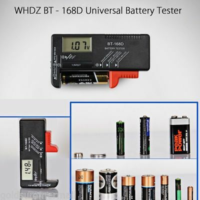 BT-168D Digital Battery Meter Universal Button Cell  Volt TestER Check Pointer