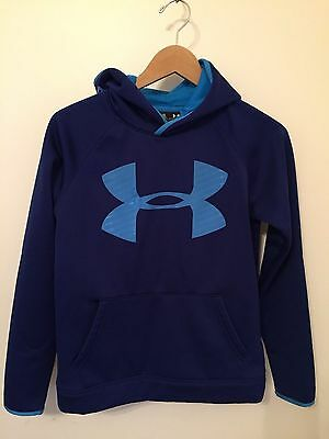 Under Armour blue Storm hoodie Sweatshirt Youth loose fit sz L