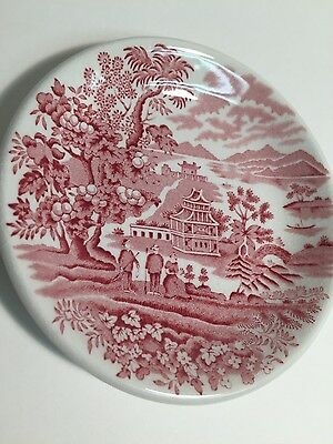 "WOODS BURSLEM ENGLAND Seaforth Small BOWL 4.5"", Red ANTIQUE Transferware"