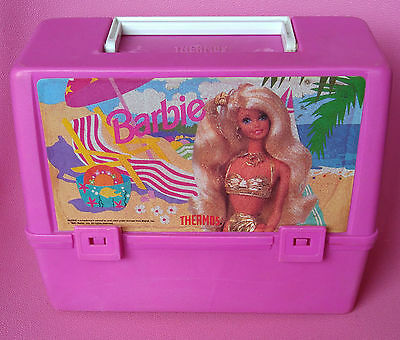 Vintage 1992 Barbie Beach Lunchbox with Thermos