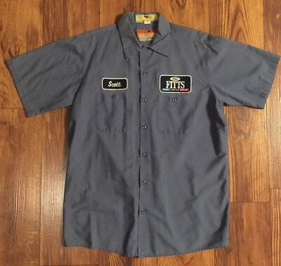 Ford Lincoln Mercury Mechanic Work Shirt- Vintage/Retro Size Large