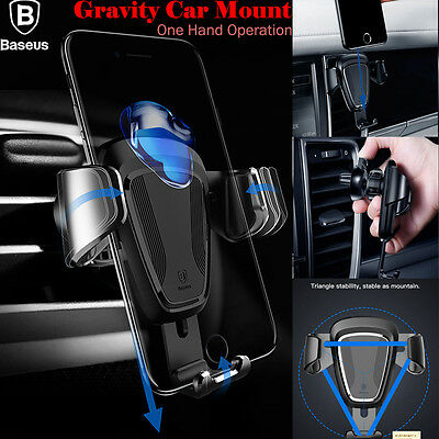 360°Universal Gravity Car Mount Air Vent Holder Cradle iPhone 7 8 Plus GPS Phone