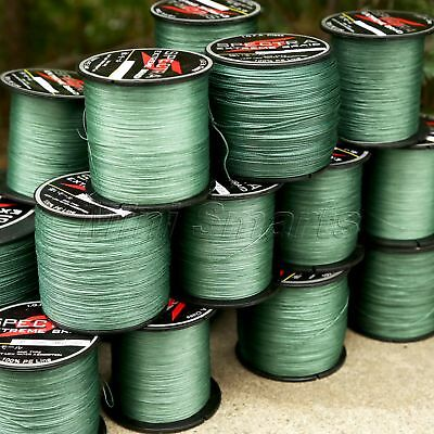8 Strands 300-1000M Spectra Dyneema Braid Fishing Line Supplies 12LB-160LB Green