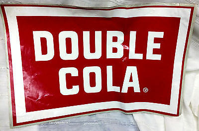 Large Vintage DOUBLE COLA Soda Store Advertising Sticker Sign
