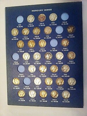 Nice Lot of 47 Mercury Dimes Silver Collection !!