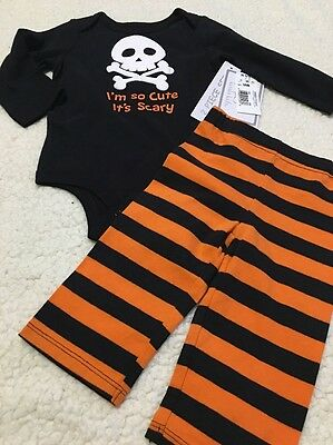 Baby/Infant Halloween Long Sleeve 2 Piece Outfit Size 3/6 Months NWT