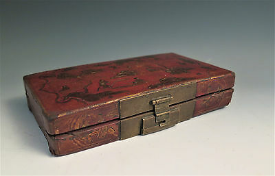 Antique 19th C Chinese Leather Clad Box