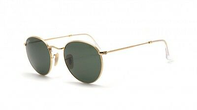 Ray Ban RB3447 001 47 Gold Frame Green Classic G 15 Round Lens 47MM Sunglasses