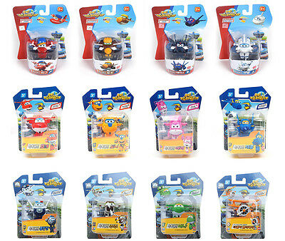 [Set 12pcs] Super Wings MINI Transforming Plane Toy planes series All Character