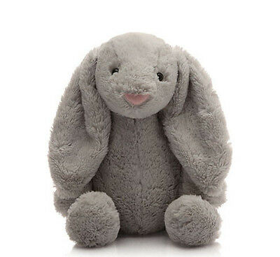 NEW Gray Cute Baby Infant Toddler Soft Bunny Rabbit Stuffed Animal Gift Shower
