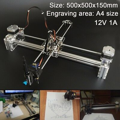 12V 1A X Y Axis A4 Area Writing Drawing Robot Auto Writing Signatures Machine