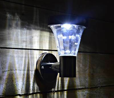 Black Nickel SMD Solar Powered Wall Light With Day / Night Senor Automatic