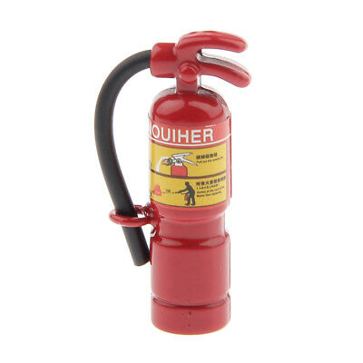 Red Fire Extinguisher for 1:12 Scale Dollhouse Miniature Home Shop Accessory