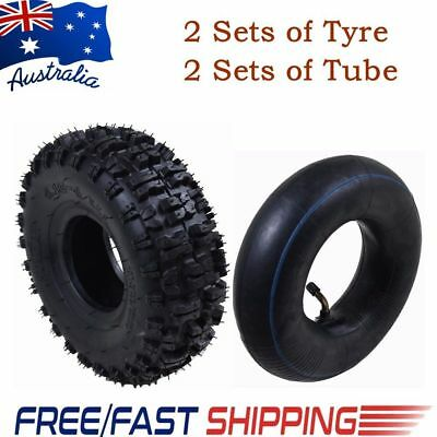 "2sets 3.50/4.10 - 4"" inch Tyre Tire&Tube 49cc Mini Quad ATV Quad Scooter Go-kart"