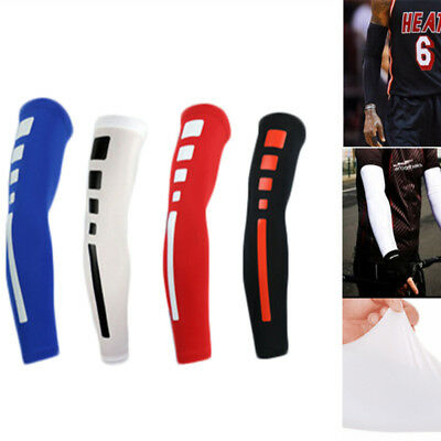 Lycra Cooling Arm Sleeves Cover UV Sun Protection Outdoor Sports Bike/Basketball
