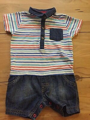 Next Baby Boy All In One Playsuit 9-12