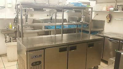 Polariz Commercial 3 door freezer with Woodson Hot plate