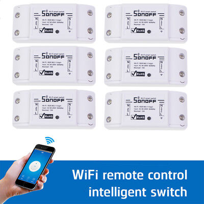 6 x  Sonoff Smart Home WiFi Wireless Switch Module for Apple Android APP DIY AU