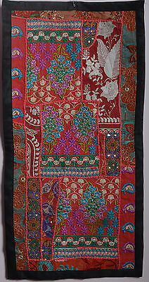 Runner Vintage Throw Patchwork Wall Hanging Embroidery Tapestry Table Runner