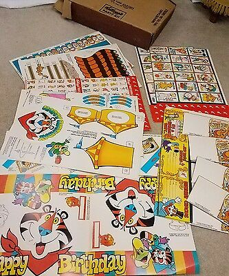 vintage advertising Kellogg's cereal Party Kit vtg ephemera tony tiger Toucan