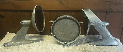 Lot of  3 Old Mirrors Rat rod Custom Hotrod -upcycle  Exterior - AS IS (L1)