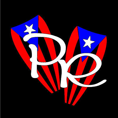 PUERTO RICO CAR DECAL STICKER Congas with PR letter #98