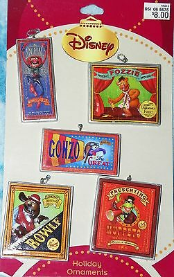 NEW MUPPETS Ornament Charm set Fozzie Animal Kermit the Frog Gonzo Rowlf Posters