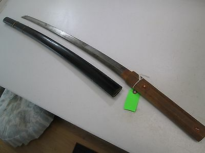 Japanese Samurai Hand Made Sword With Scabbard Unsigned #l1