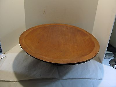 "Primitive/Rustic/Country Hand Carved Large Wooden Bowl 21"" Diameter, 7"" Tall"