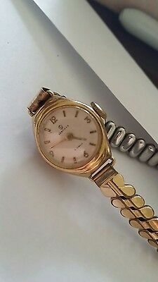 ladies Services vintage mechanical wrist watch gold plated