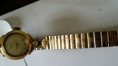 ladies vintage lanco Swiss made wrist watch with gold coloured band