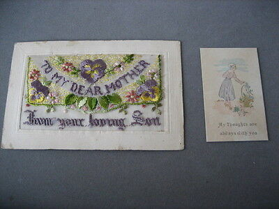ww1 silk postcard
