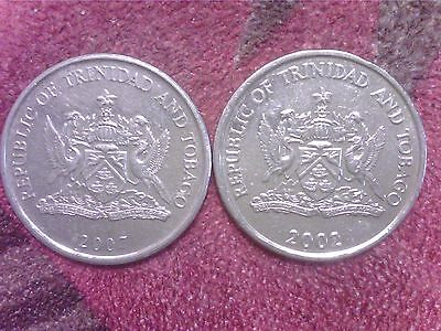 Trinidad  And   Tobago   1  Cent  1996     25  Cents   2002  2007